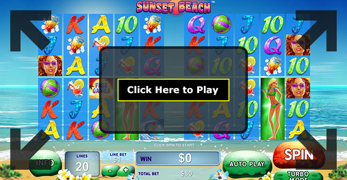 Play Sunset Beach Pokie at Casino.com Australia