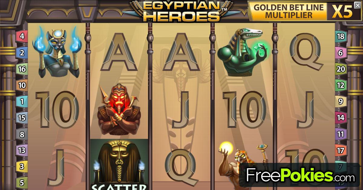 Egyptian Heroes™ Slot spel spela gratis i NetEnt Online Casinon